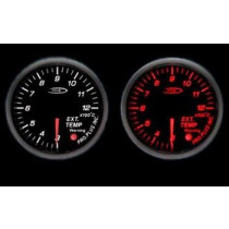 PRO RACING GAUGE 52mm - Kipufogógáz hőmérséklet Piros&FEHÉR